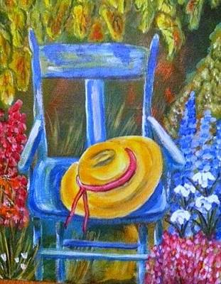 Painting - A Blue Chair by Belinda Lawson