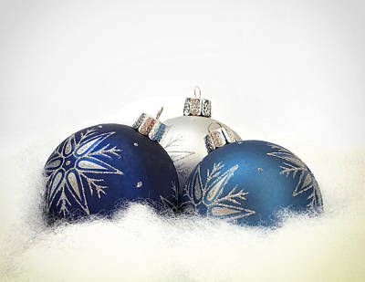 Photograph - A Blue Christmas by Andrew Soundarajan