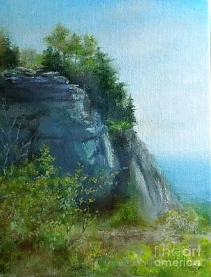 Painting - A Blue Cliff by Elizabeth Crabtree