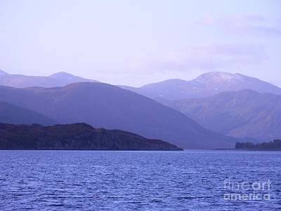 Photograph - Blue Dawn Over Loch Broom by Joan-Violet Stretch