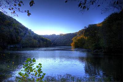 Photograph - A Blue Lake In The Woods by Jonny D