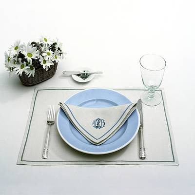 A Blue Table Setting Art Print