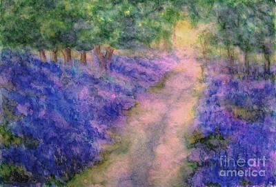 A Bluebell Carpet Art Print by Hazel Holland