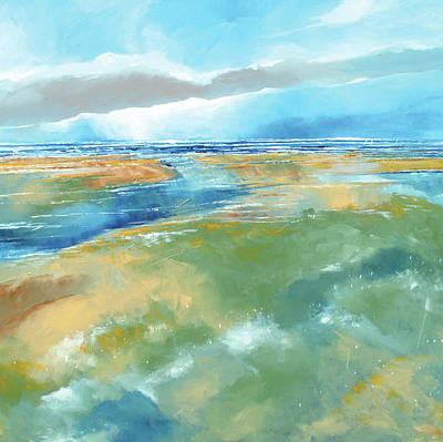 A Blustery Day Near Salthouse Art Print by Stuart Roy