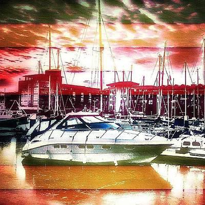 Trail Photograph - A Boat In Kingston Upon Hull Marina by Chris Drake