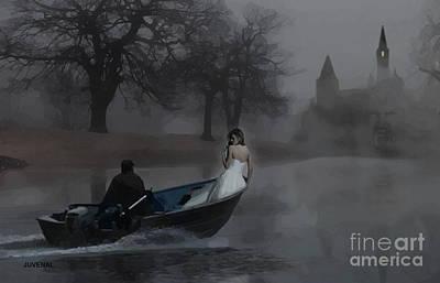 A Boat In The Fog Art Print