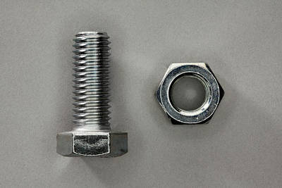 Photograph - A Bolt And A Nut by Larry Washburn