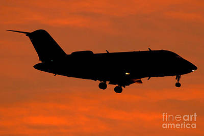 A Bombardier Challenger Cl-600 Private Art Print