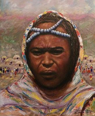 Painting - A Borana Lady. by Samuel Daffa