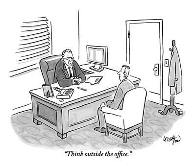A Boss Asks His Employee Art Print