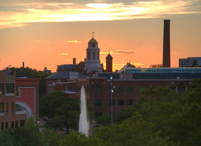 Photograph - Sunset Over Bulfinch Square - Cambridge by Joann Vitali