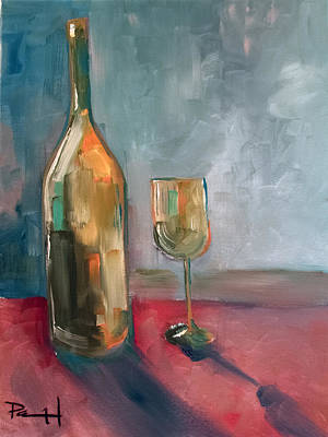 Painting - A Bottle Of White... by Sean Parnell