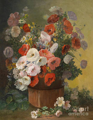 A Bouquet Of Summer Flowers Art Print by Celestial Images