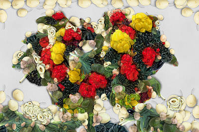 Manipulation Photograph - A Bouquet Of Vegetables by Mario Carini