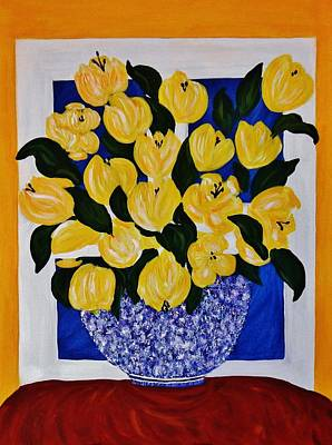Painting - A Bowl Full Of Gold by Celeste Manning