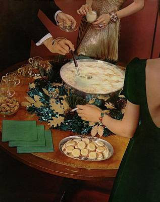 Photograph - A Bowl Of Eggnog by Anton Bruehl