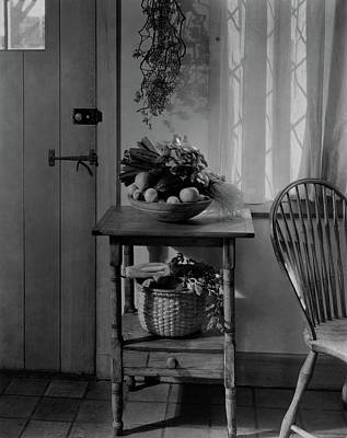 Pantries Photograph - A Bowl Of Vegetables On A Table by Charles Darling
