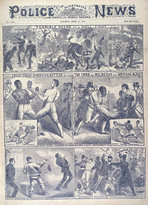 A Boxing Match Art Print by British Library