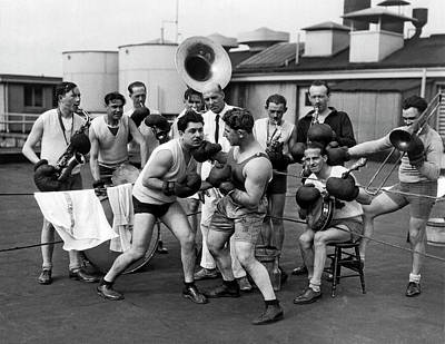 Photograph - A Boxing Orchestra by Underwood Archives