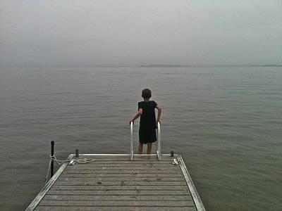 A Boy And A Lake Art Print