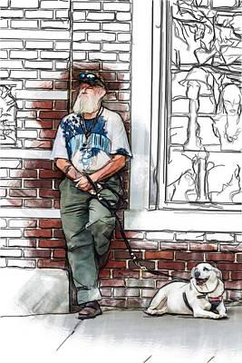 A Boy And His Dog Art Print by John Haldane