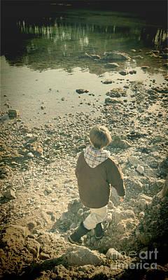 Winter Memories Photograph - A Boy by Jasna Buncic