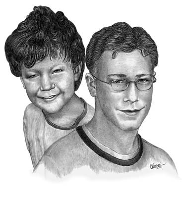 Drawing - A Boy Then The Young Man by Joe Olivares