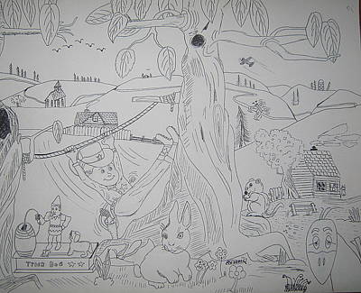 Old Objects Drawing - A Boy's Dream by Russell Kelly