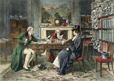 Solicitors Painting - A Breach Of Promise, Published 1895 by Walter Dendy Sadler