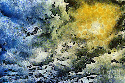 Fantasy Royalty-Free and Rights-Managed Images - A break in the clouds by Antony McAulay