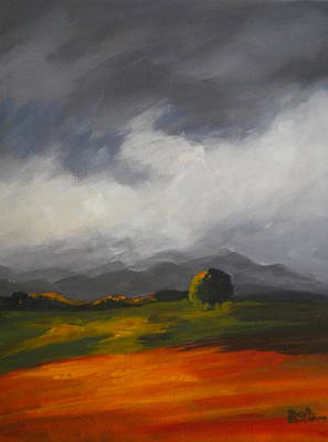 A Break In The Clouds Art Print by Sally Bullers