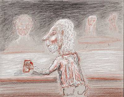Drawing - A Brew Please by Jim Taylor