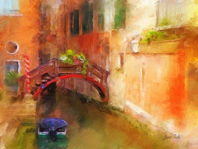 A Bridge In Venice Art Print by Jane Fiala