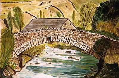 A Bridge. Art Print
