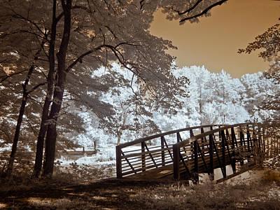 Yellow Bridge Digital Art - A Bridge To Beauty by Linda Unger