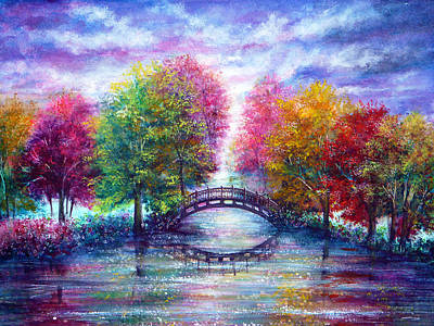 A Bridge To Cross Art Print by Ann Marie Bone