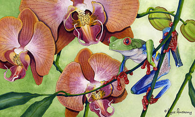 Amphibians Painting - A Bright Day by Lyse Anthony