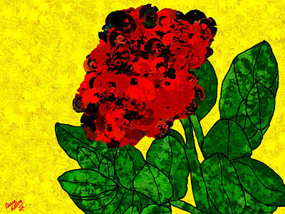 A Bright Red Rose For My Honey Art Print