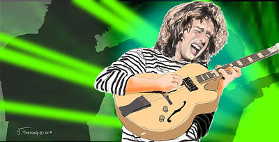 Digital Art - A Bright Size Life Pat Metheny by David Fossaceca