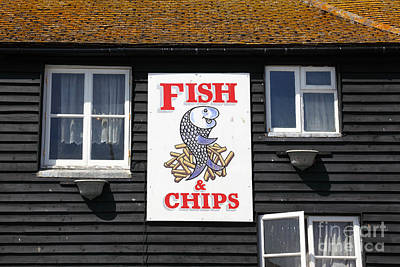 Fish And Chips A British Institution Art Print