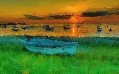Beauty Painting - A Broken Boat by VRL Art