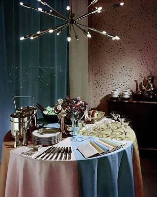 Room Photograph - A Buffet Table At A Party by Wiliam Grigsby