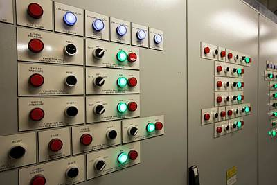 A Building Control Panel Art Print by Ashley Cooper