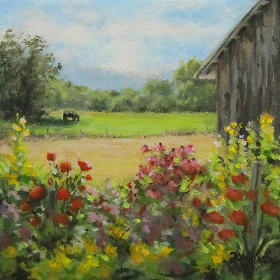 Painting - A Bull's Life by Karen Ilari