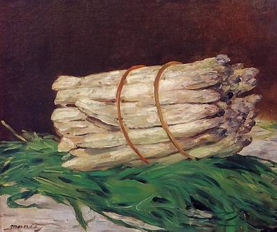 Asparagus Digital Art - A Bunch Of Asparagus by Edouard Manet