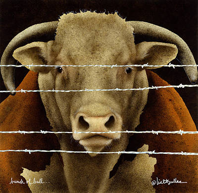 Steer Painting - A Bunch Of Bull... by Will Bullas