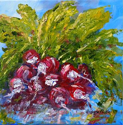 Painting - A Bunch Of Radishes by Barbara Pirkle