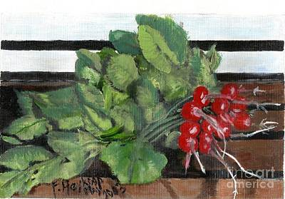 Painting - A Bunch Of Radishes  by Francine Heykoop