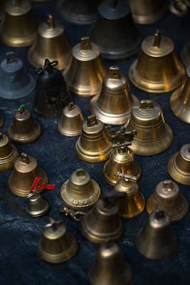 A Bunch Of Shining Vintage Bells Art Print by Jaroslaw Blaminsky