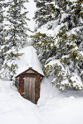 Ski House Wall Art - Photograph - A Buried Out House At Whitefish by Craig Moore